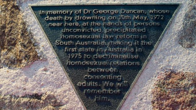 A memorial plaque was erected at the top of the riverbank beside the footbridge to mark the 30th anniversary of Dr Duncan's death.
