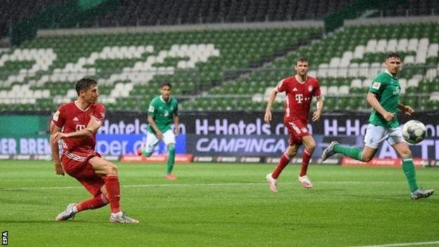 Robert Lewandowski'nin Bayern'e şampiyonluğu getiren golü