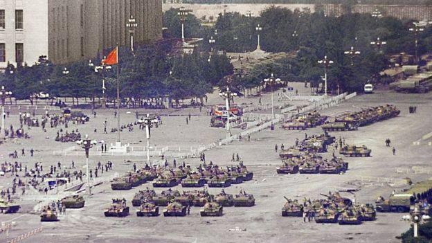 Xe tăng ở Quảng trường Thiên An Môn 1989