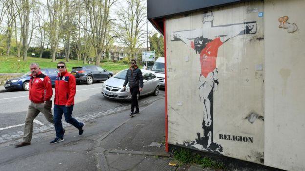 Muchas de las mejores obras de Banksy son arte callejero.