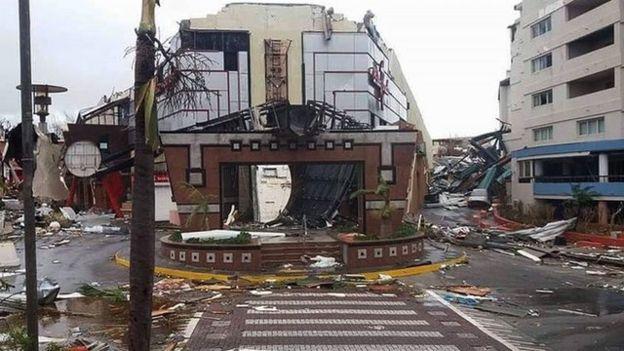 Destrozos en la parte holandesa de la isla de San Martin