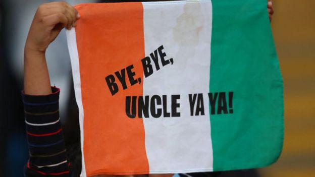 Hommage d'un jeune fan au footballeur ivoirien Yaya Touré lors de son départ de City