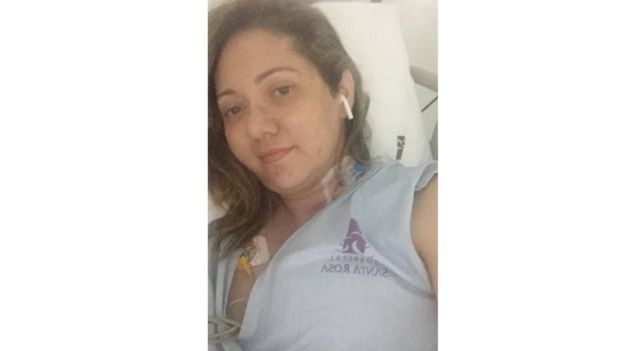 Letícia no hospital