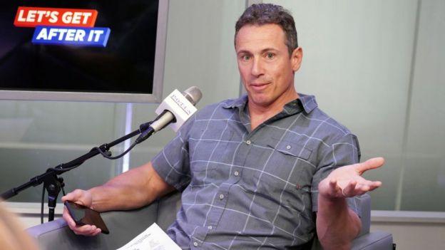 CNN host Chris Cuomo speaks on a SiriusXM radio show in June
