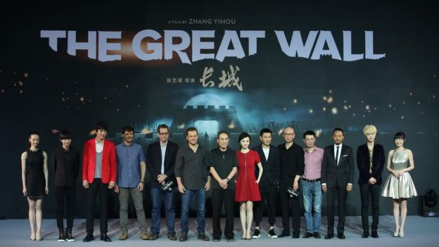 The cast and director attend a press conference for their new movie
