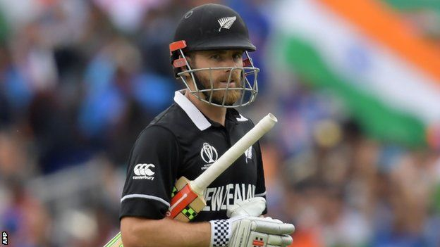 Kane Williamson walks off after being dismissed