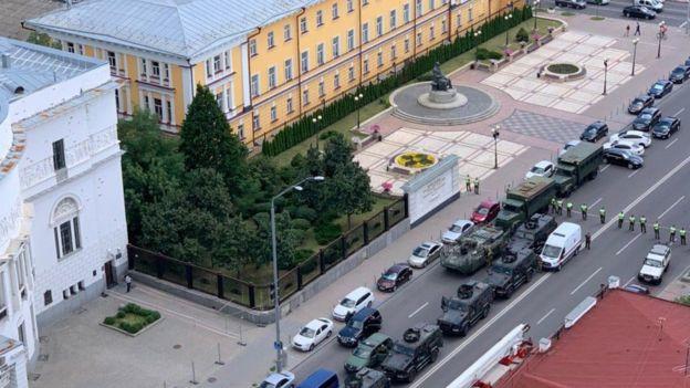 Фото очевидца с верхнего этажа бизнес-центра