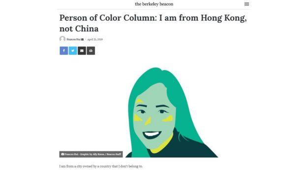 Bài viết của Frances Hui trong bài báo của sinh viên Đại học Emerson