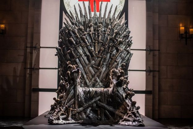 Trono de hierro de Game of Thrones.