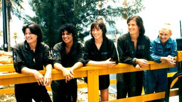 Sally K. Ride, Judith A. Resnik, Anna L. Fisher, Kathryn D. Sullivan and Rhea Seddon