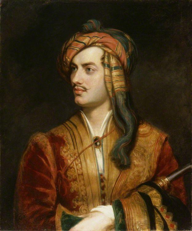Quadro de Lord Byron feito por Thomas Phillips, em 1835