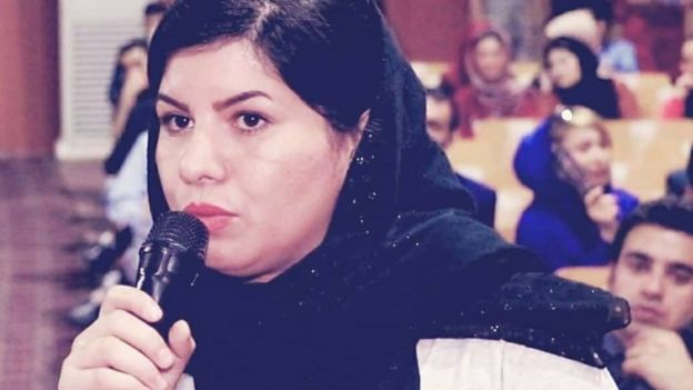 Firooza Omar speaking at a conference