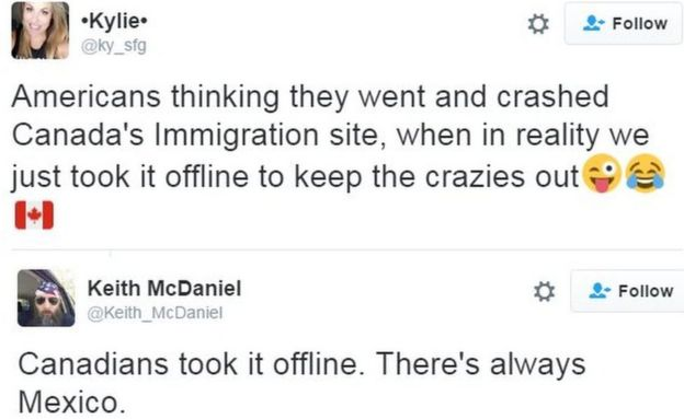 Canada's immigration website crashes during US vote - BBC News