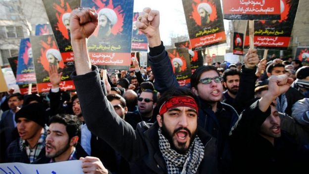 Manifestantes pro iraníes