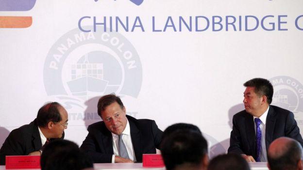 Empresarios chinos y panameños