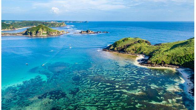 Vista da ilha de Lombok