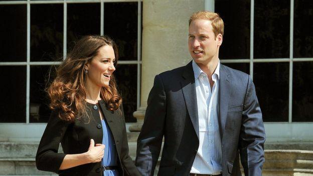 Príncipe William y su esposa Katherine