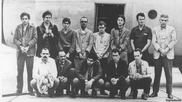 Dirceu com presos políticos exilados