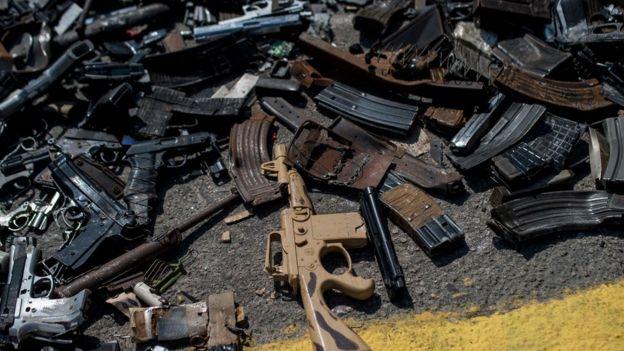 Armas apreendidas por autoridades