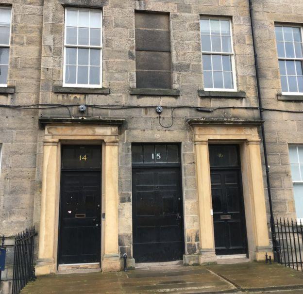 """15 Buccleuch Place, , donde vivían """"Las siete de Edimburgo"""""""