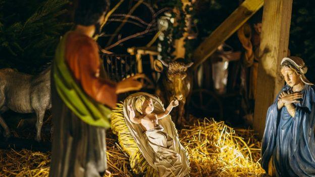 İsa'nın doğuşunu anlatan bir sahne