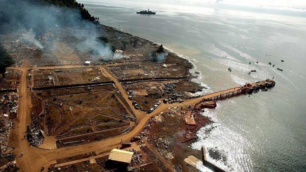 bahía de juan fernández destruida