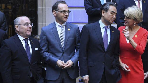 Ngoại trưởng các nước Argentina, Đức, Trung Quốc và Úc tại cuộc gặp ngoại trưởng G20 tại Buenos Aires hồi tháng 5/2018.