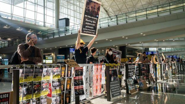 Havalimanı protesto