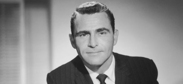 Rod Serling, original narrator of The Twilight Zone, in 1955