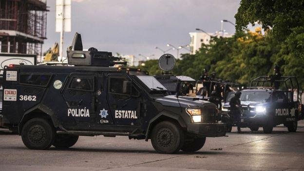 Tanque de la policía de Sinaloa