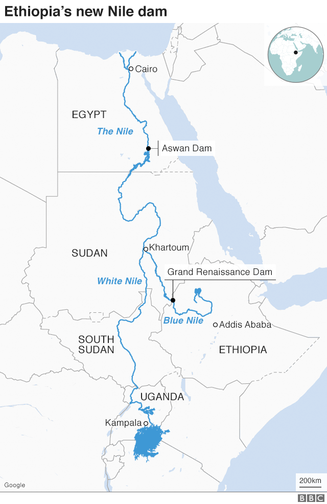 nile river africa map Egypt Ethiopia Row The Trouble Over A Giant Nile Dam Bbc News nile river africa map