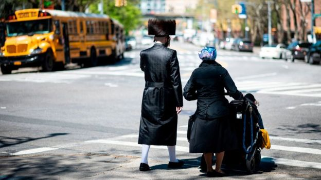 An Orthodox Jewish family in Brooklyn