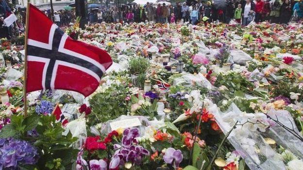 挪威紀念恐怖襲擊遇害者