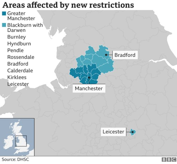 Lockdown map