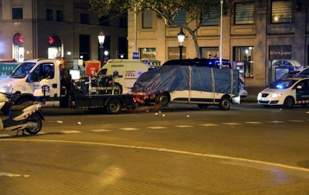 En Barcelona usaron una furgoneta alquilada.