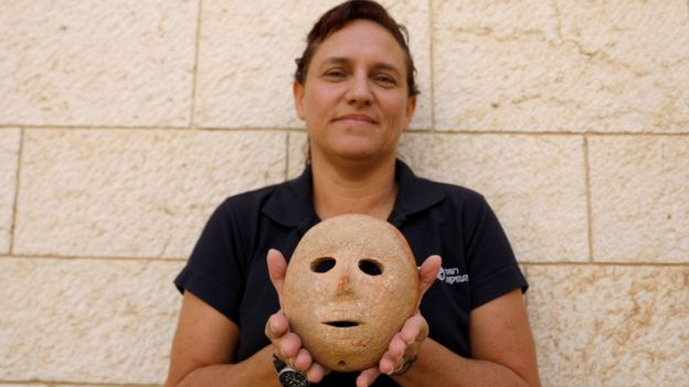 Mask found in the occupied West Bank