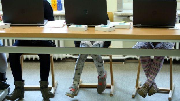 Alumnos de escuela en Alemania.