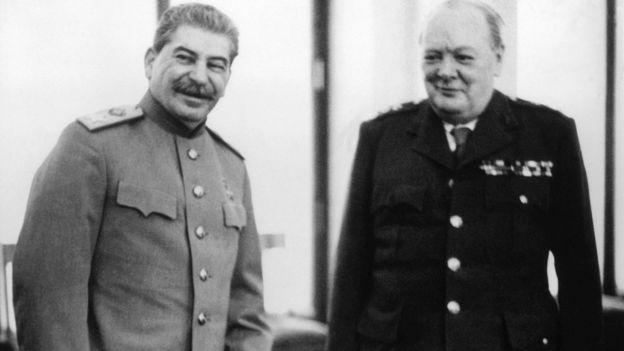 斯大林和丘吉爾