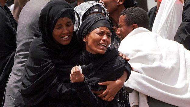 Familiares de las 157 víctimas del accidente Boeing 737 Max en Etiopía.