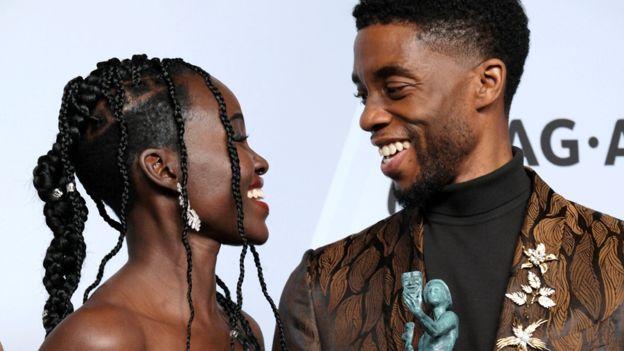 Lupita Nyong'o and Chadwick Bose