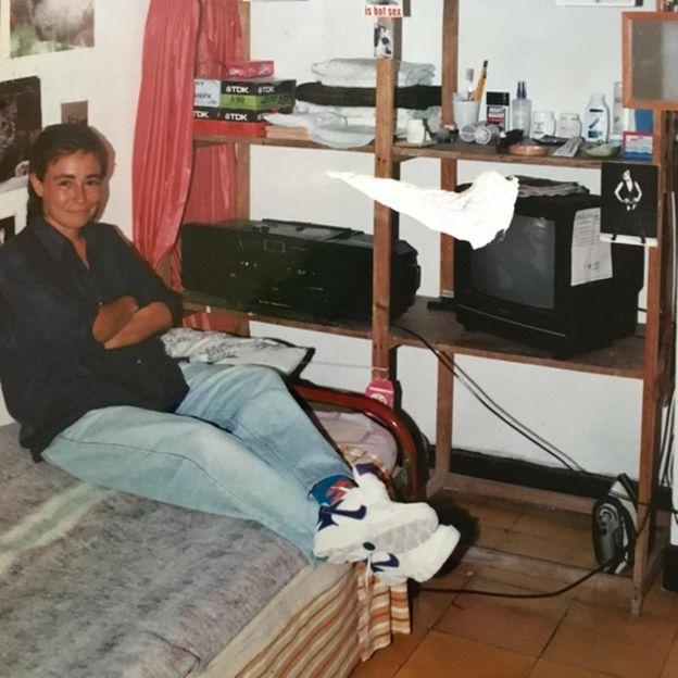 Marta Álvarez en la cárcel de Pereira en 1995