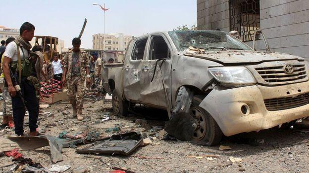 Rest of an attack in Yemen.