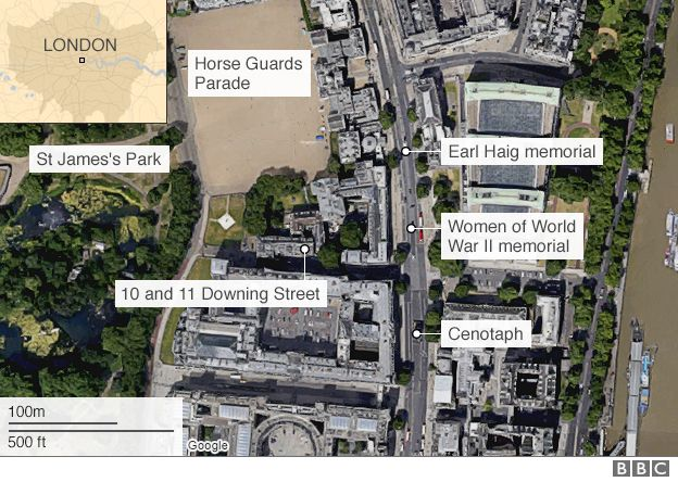 Google Map view of Whitehall