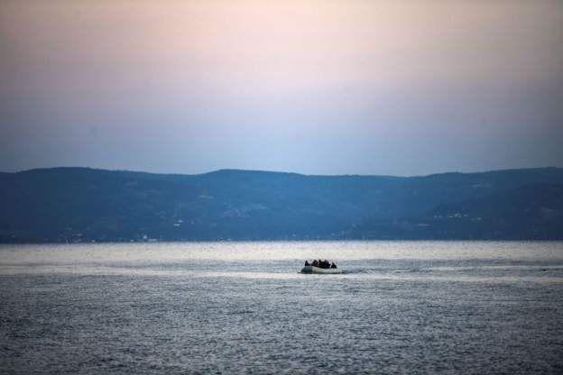Midilli açıklarındaki bir göçmen botu