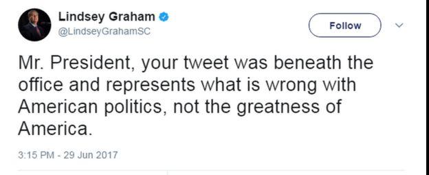Tweet by Lindsey Graham