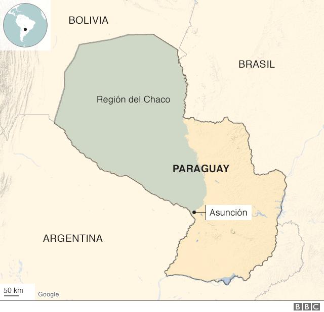 mapa Chaco