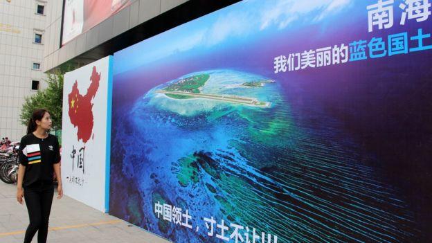 Panô của Trung Quốc ở Nam Kinh mô tả 'Nam Hải là Quốc thổ Biển xanh' của đất nước