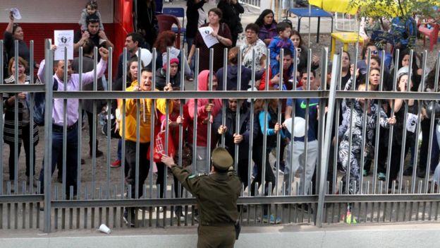 Protestas en Los Andes