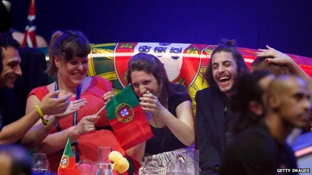 The winning Portuguese contingent