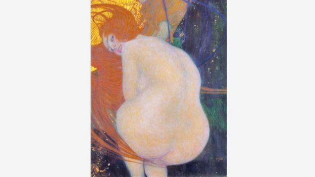 """有传言说,克里姆特更愿意将他的作品""""金鱼""""(详情如下)命名为""""献给我画作的评论家""""。"""